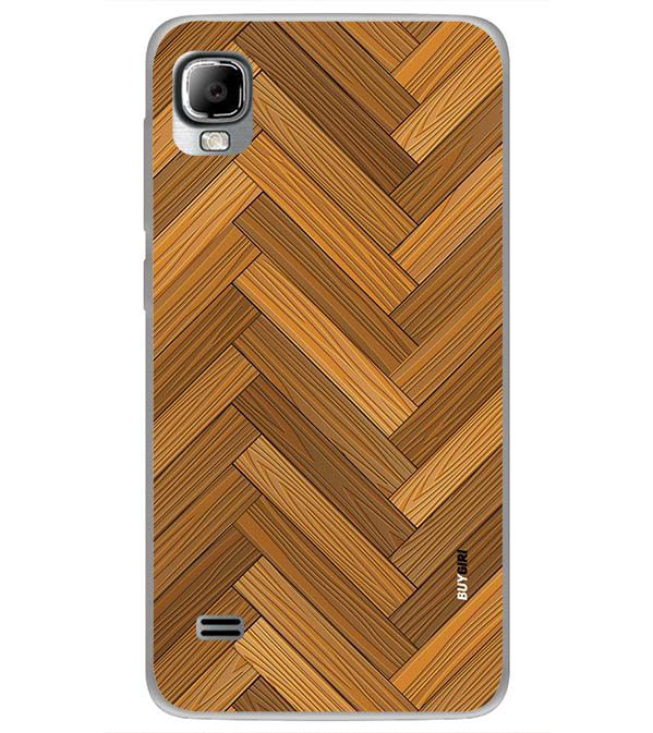 Wood Pattern Back Cover for LYF Flame 3