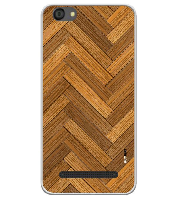 Wood Pattern Soft Silicone Back Cover for LYF Flame 5