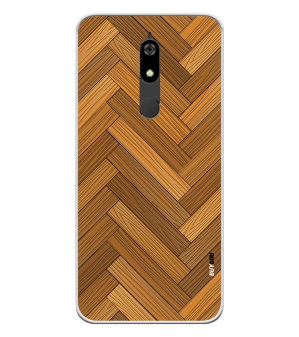 Wood Pattern Soft Silicone Back Cover for Micromax Canvas Infinity Pro