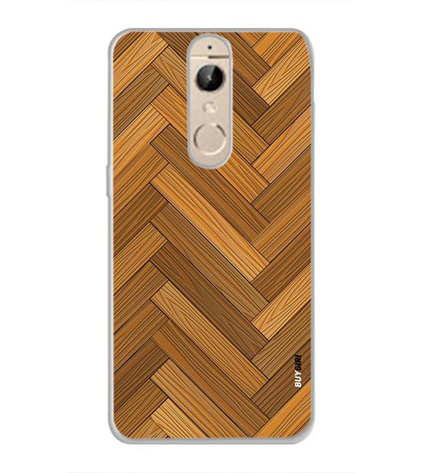 Wood Pattern Back Cover for Panasonic Elugaa I9