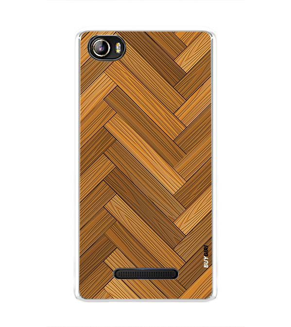 Wood Pattern Back Cover for Sansui Horizon 1