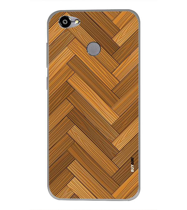 Wood Pattern Back Cover for Smartron TPhone (P)