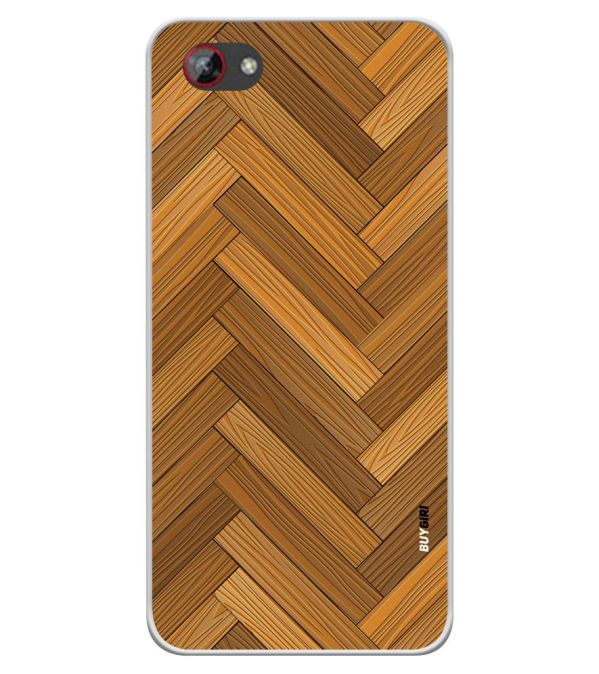 Wood Pattern Soft Silicone Back Cover for Spice F301