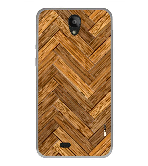 Wood Pattern Back Cover for Swipe Konnect Plus