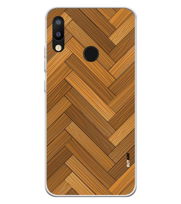 Wood Pattern Soft Silicone Back Cover for Tecno Camon i2