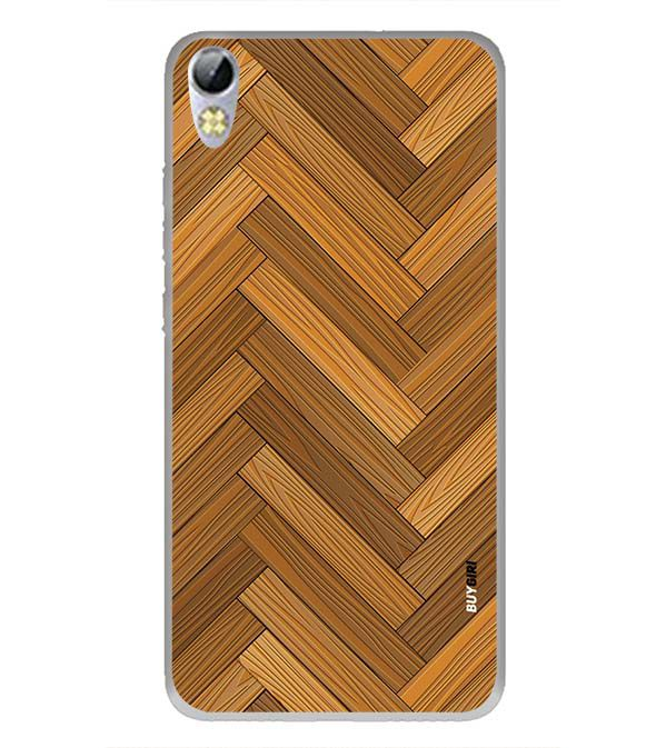 Wood Pattern Back Cover for Tecno I3 Pro