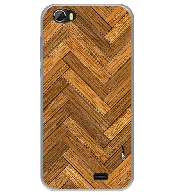 Wood Pattern Back Cover for Videocon Krypton 22 Plus