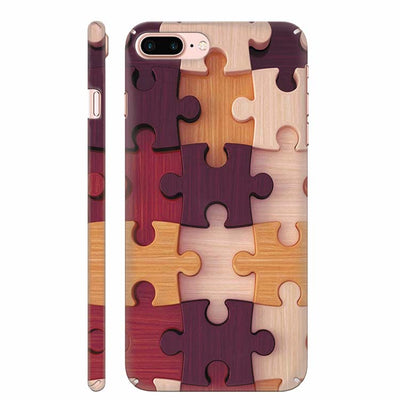 Wooden Jigsaw Back Cover for Apple iPhone 8 Plus