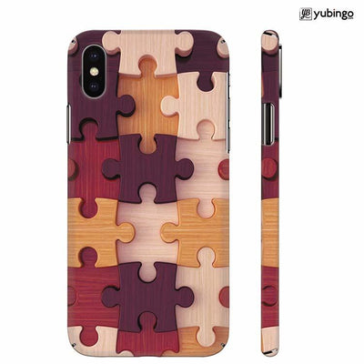 Wooden Jigsaw Back Cover for Apple iPhone X