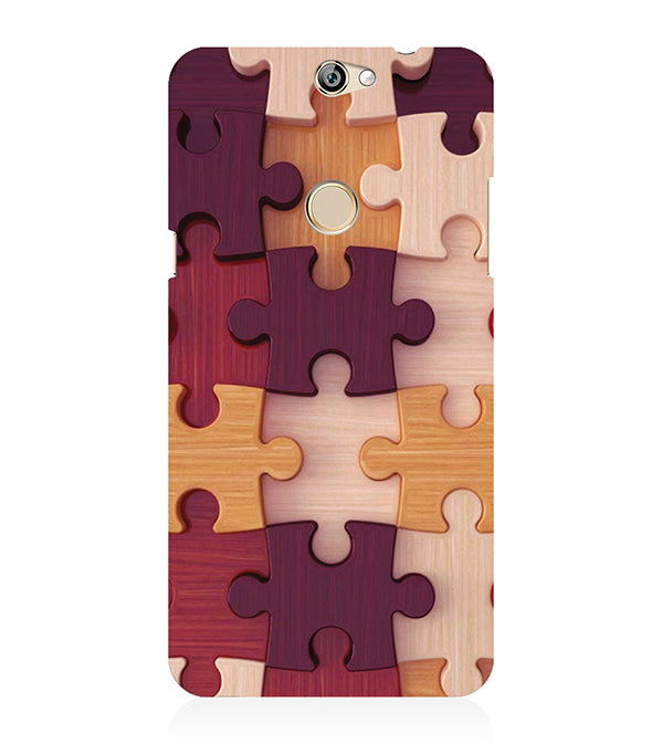 Wooden Jigsaw Back Cover for Coolpad Max