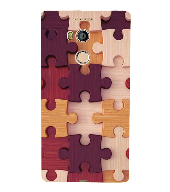 Wooden Jigsaw Back Cover for Gionee Elife E8
