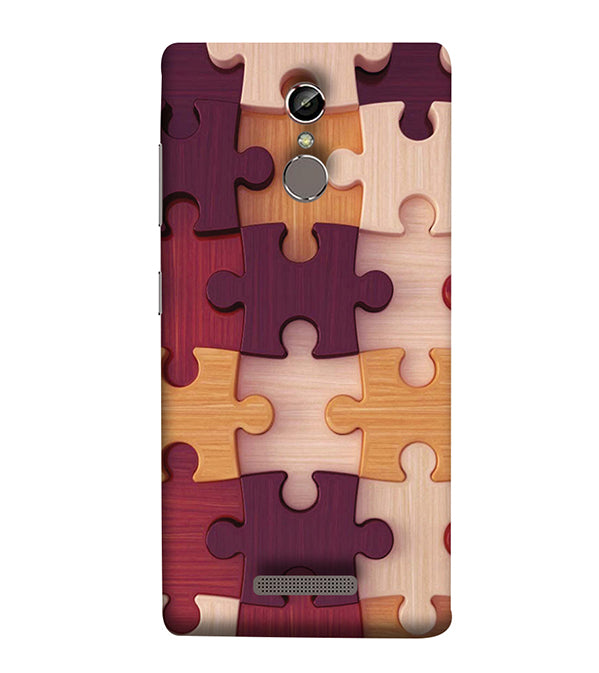 Wooden Jigsaw Back Cover for Gionee Elife S6S