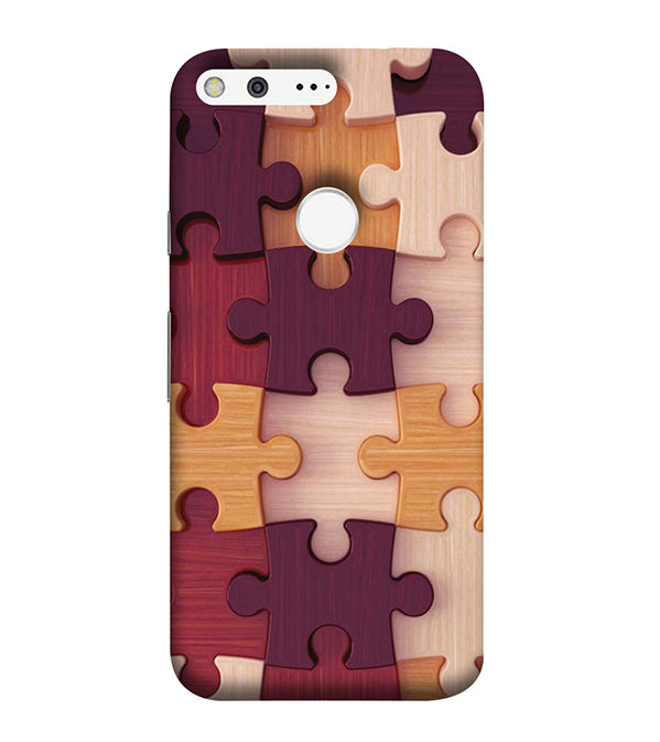 Wooden Jigsaw Back Cover for Google Pixel