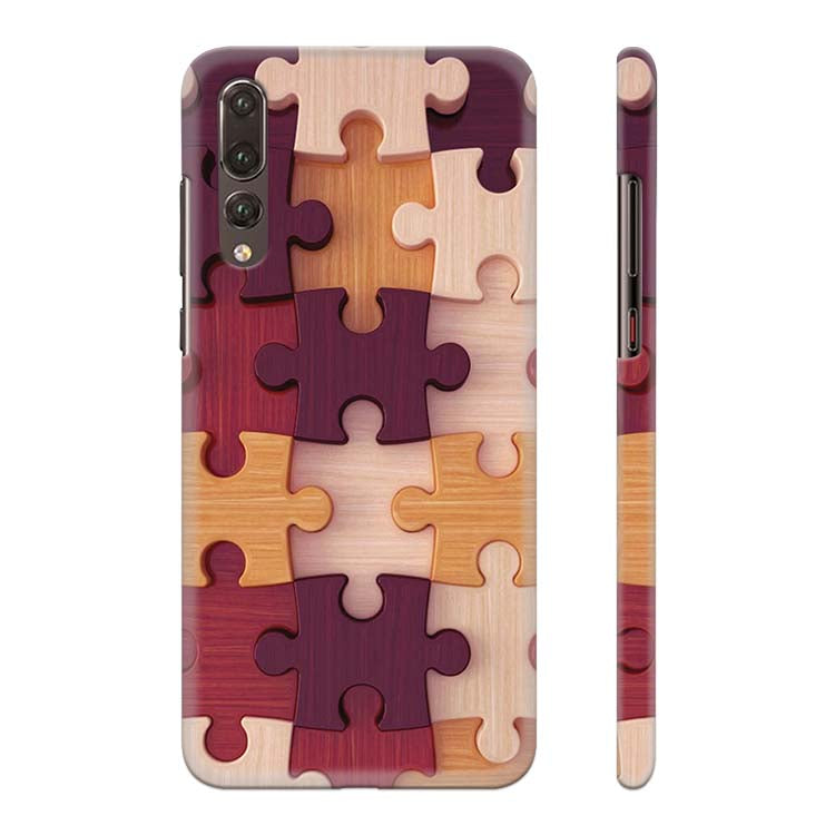 Wooden Jigsaw Back Cover for Huawei P20 Pro