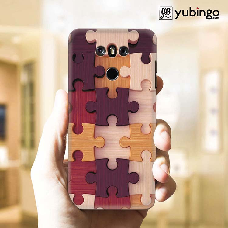 Wooden Jigsaw Back Cover for LG G6