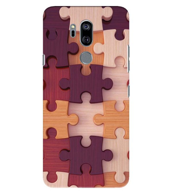 Wooden Jigsaw Back Cover for LG G7