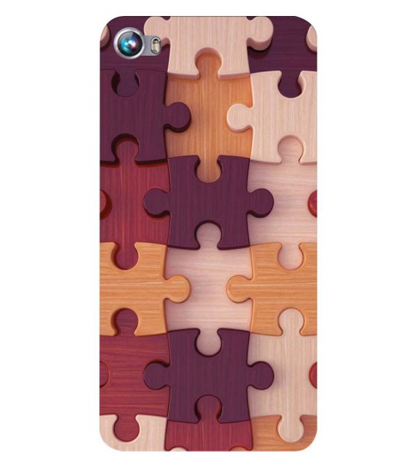 Wooden Jigsaw Back Cover for Micromax Canvas Fire 4 A107