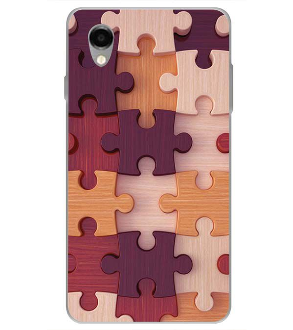 Wooden Jigsaw Back Cover for ITEL PWO Pro