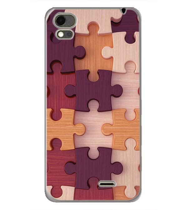 Wooden Jigsaw Back Cover for Karbonn Aura Note 4G