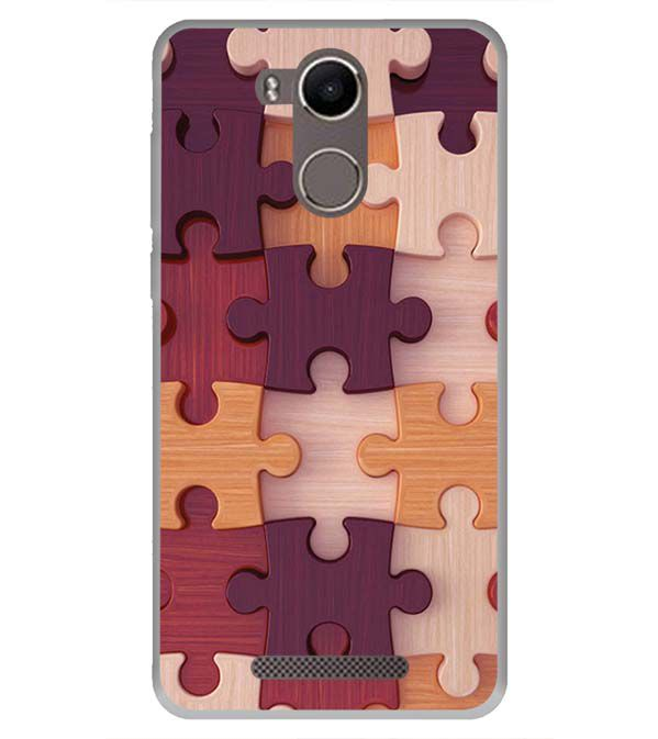 Wooden Jigsaw Back Cover for Karbonn K9 Kavach 4G