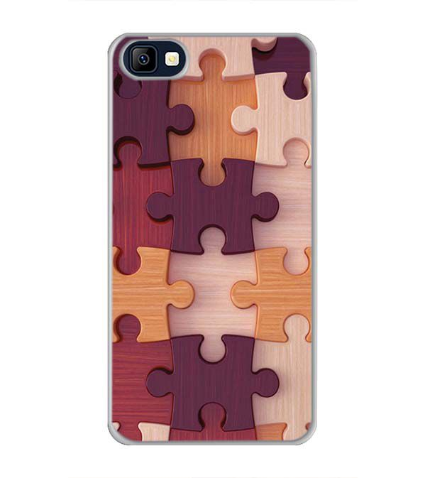 Wooden Jigsaw Back Cover for Karbonn K9 Smart Selfie
