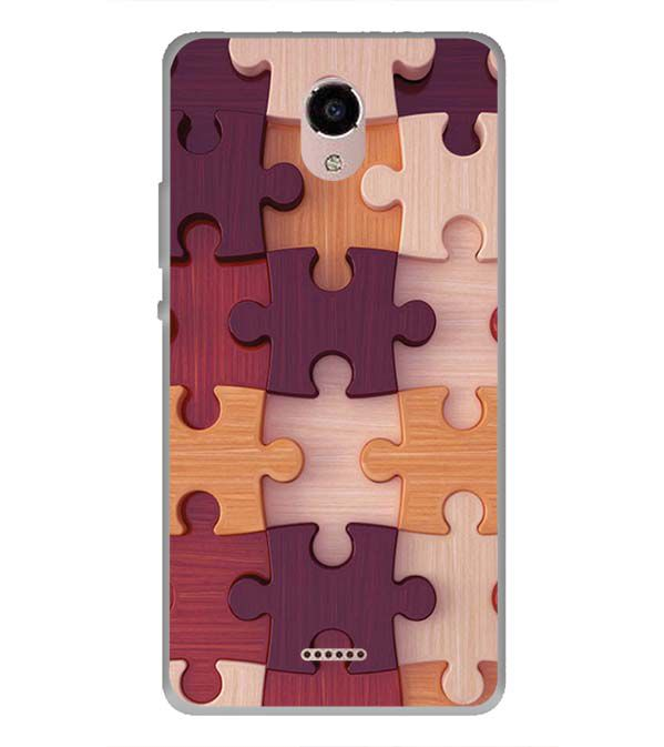 Wooden Jigsaw Back Cover for Panasonic Eluga RayX