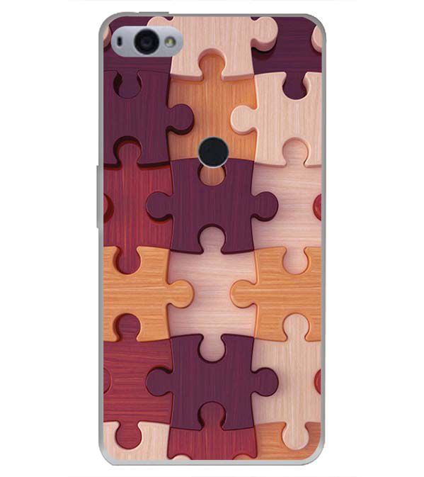 Wooden Jigsaw Back Cover for Smartron SRT Phone