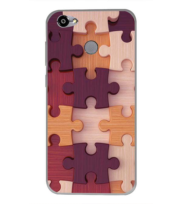 Wooden Jigsaw Back Cover for Smartron TPhone (P)