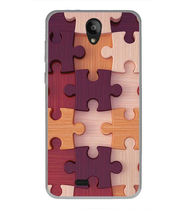 Wooden Jigsaw Back Cover for Swipe Konnect Plus