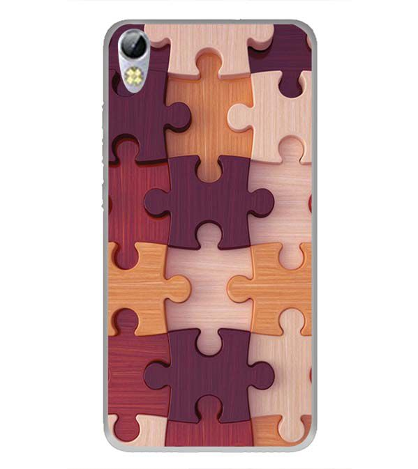 Wooden Jigsaw Back Cover for Tecno I3 Pro