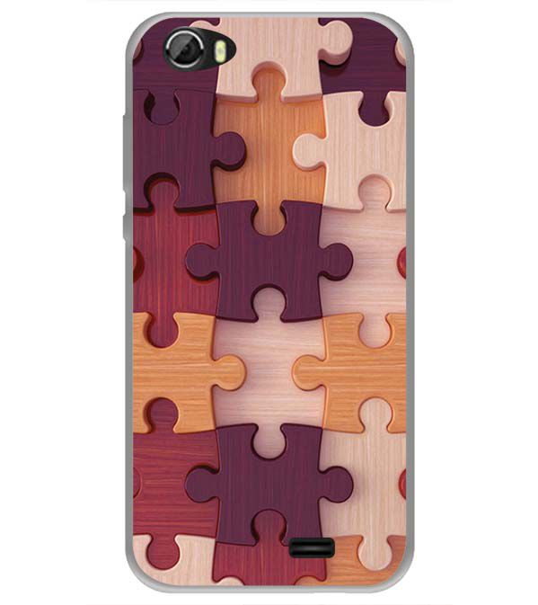 Wooden Jigsaw Back Cover for Videocon Krypton 22 Plus
