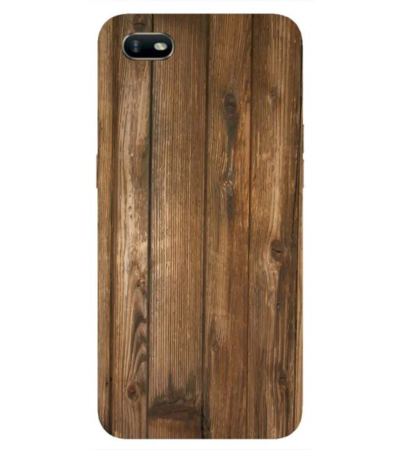 Wooden Pattern Back Cover for Oppo A1k