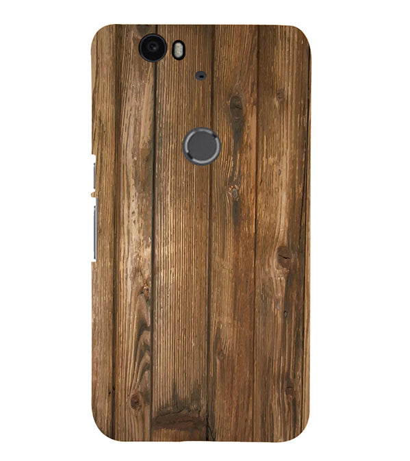 Wooden Pattern Back Cover for Google Nexus 6P
