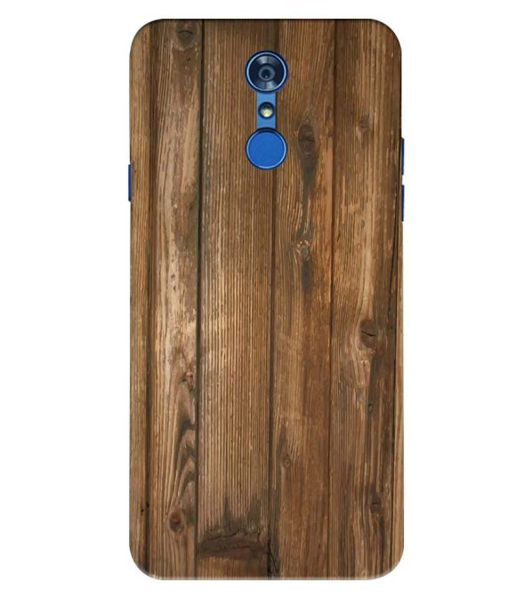 Wooden Pattern Back Cover for LG Q7