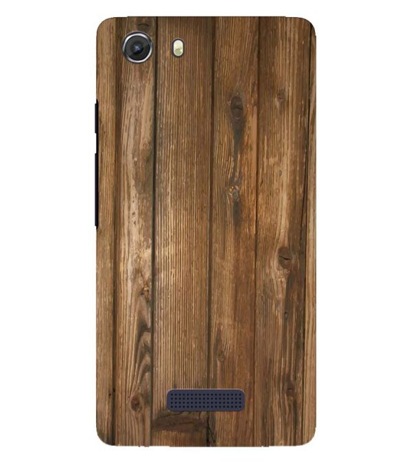 Wooden Pattern Back Cover for Micromax Q372 Unite 3