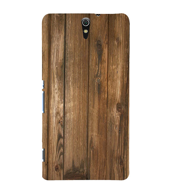 Wooden Pattern Back Cover for Sony Xperia C5