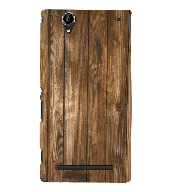 Wooden Pattern Back Cover for Sony Xperia T2