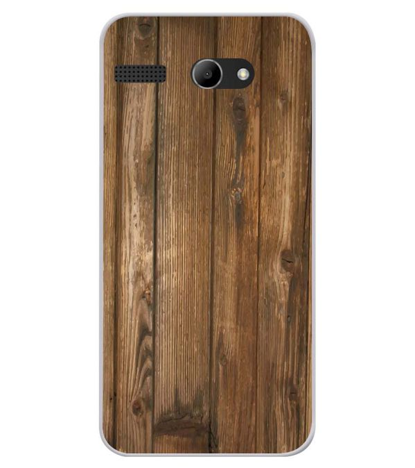 Wooden Pattern Soft Silicone Back Cover for Lava Iris Atom X