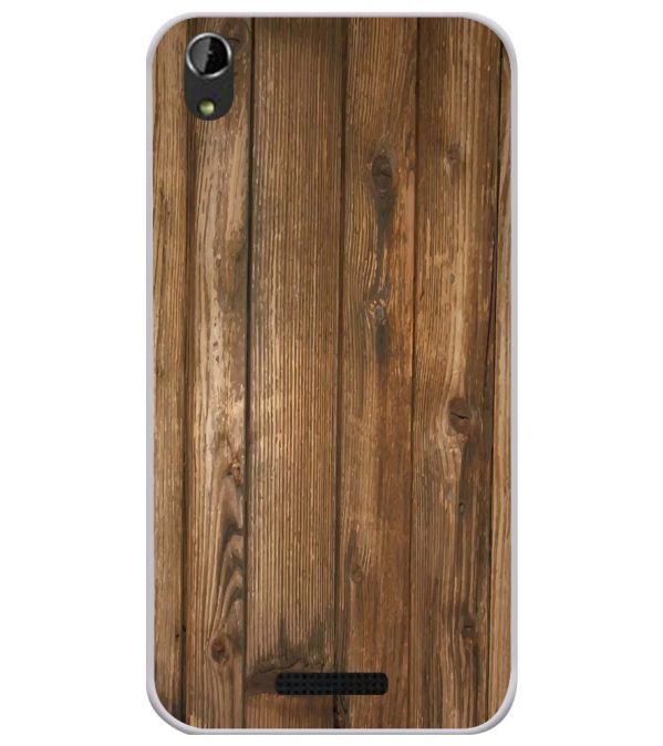 Wooden Pattern Soft Silicone Back Cover for Lava Iris Atom X1