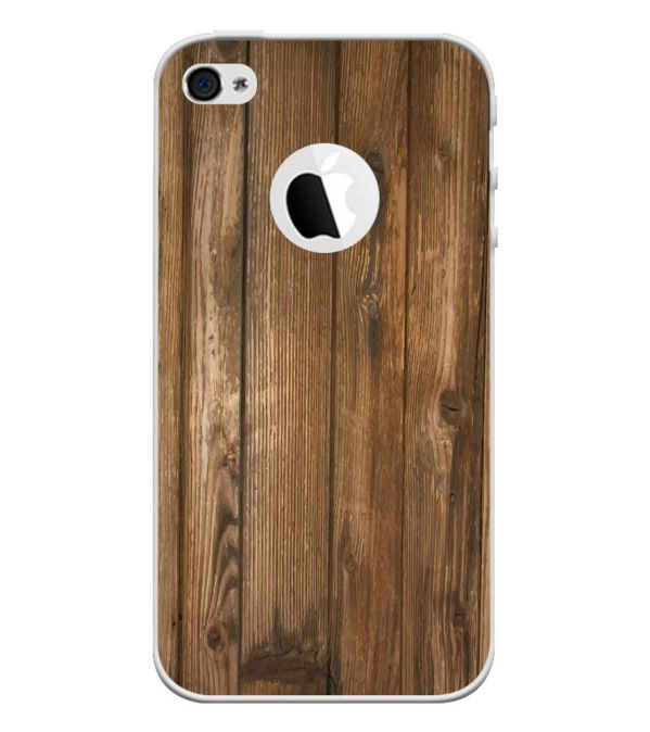 Wooden Pattern Back Cover for Apple iPhone 4 and iPhone 4S (Logo Cut)-Image3