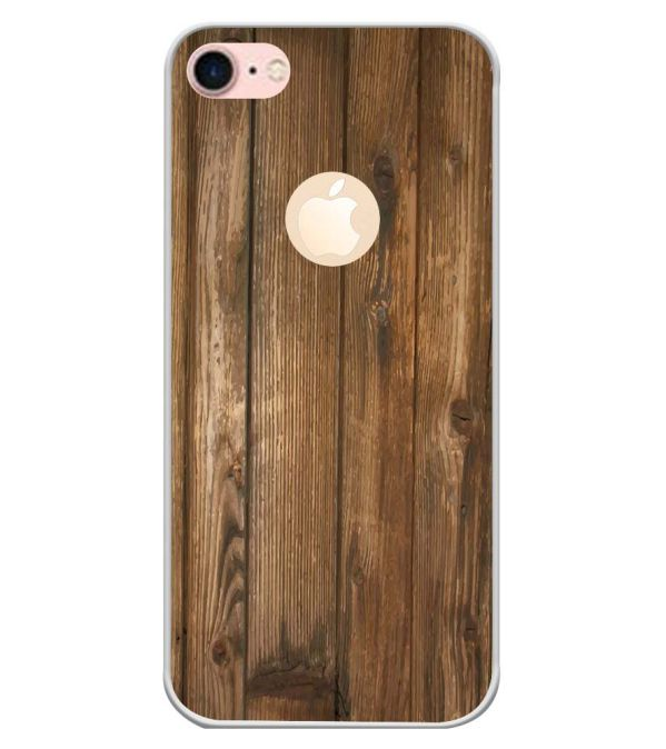 Wooden Pattern Back Cover for Apple iPhone 7 (Logo)-Image3