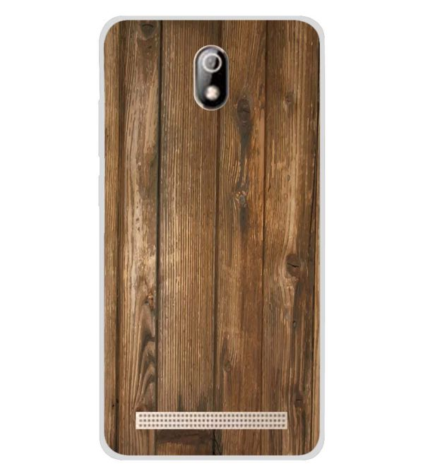 Wooden Pattern Soft Silicone Back Cover for Comio C1 Pro