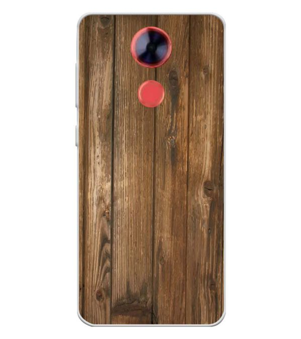 Wooden Pattern Soft Silicone Back Cover for Comio X1