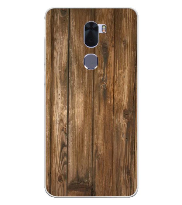 Wooden Pattern Soft Silicone Back Cover for Coolpad Cool 1