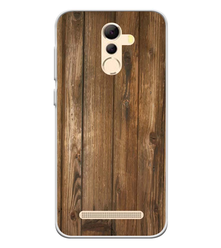 Wooden Pattern Soft Silicone Back Cover for Coolpad Mega 5A