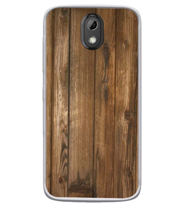 Wooden Pattern Soft Silicone Back Cover for HTC Desire 526