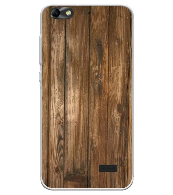 Wooden Pattern Soft Silicone Back Cover for Huawei Honor Bee 4G