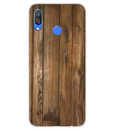 Wooden Pattern Soft Silicone Back Cover for Huawei Y9 (2019)