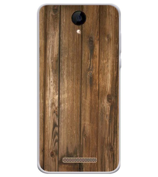 Wooden Pattern Soft Silicone Back Cover for iVOOMi 505