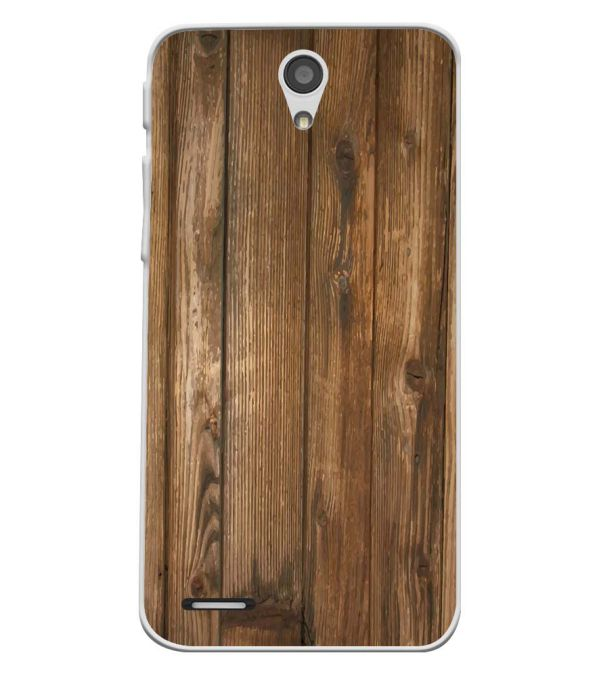 Wooden Pattern Soft Silicone Back Cover for InFocus M260